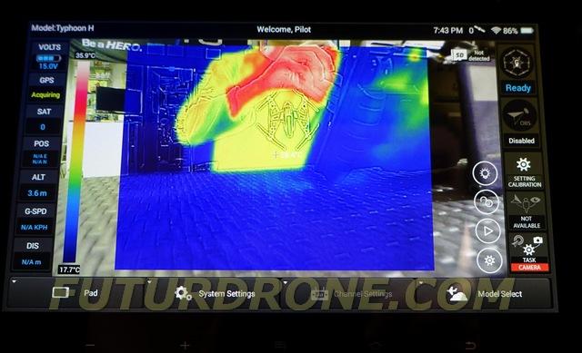 Visualización de imagen infrarroja con ST16